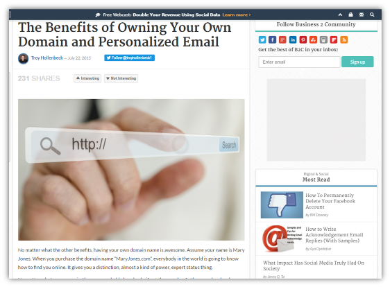 The Benefits of Owning Your Own Domain and Personalized Email